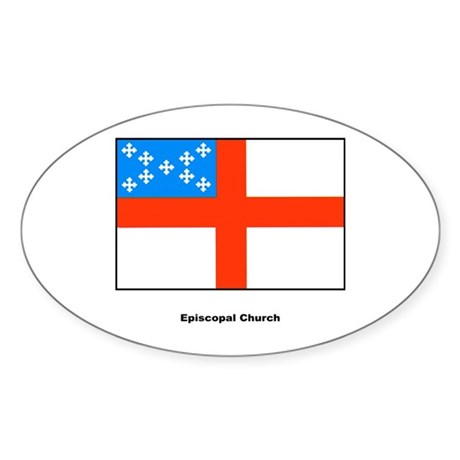 Episcopal Church Flag Oval Sticker
