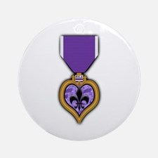 NOLA 'Purple Heart' medal Ornament (Round)