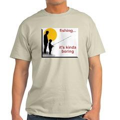 Fishing is boring Ash Grey T-Shirt