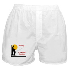 Fishing is boring Boxer Shorts
