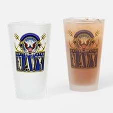 USN Eagle Anchors Honor Drinking Glass