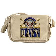 USN Eagle Anchors Honor Messenger Bag