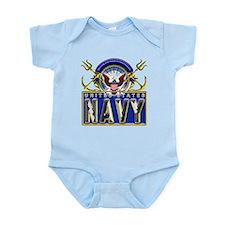 USN Eagle Anchors Honor Infant Bodysuit