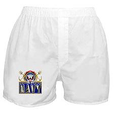US Navy Eagle Anchors Trident Boxer Shorts
