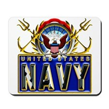 US Navy Eagle Anchors Trident Mousepad