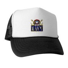 US Navy Eagle Anchors Trident Trucker Hat