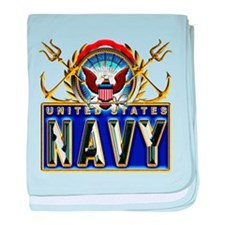 US Navy Eagle Anchors Trident baby blanket