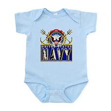 US Navy Eagle Anchors Trident Infant Bodysuit