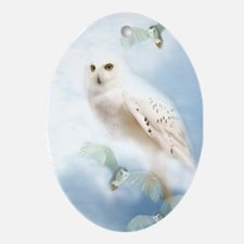 Snowy Owl Ornament (Oval)