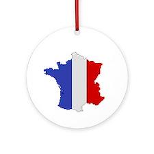 """Pixel France"" Ornament (Round)"