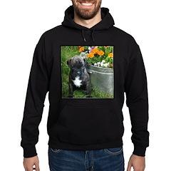 Boxer Puppy in flowers Hoodie