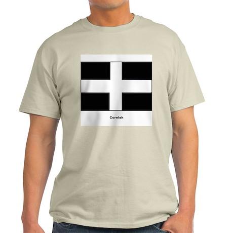 Cornish Cornwall Flag (Front) Ash Grey T-Shirt