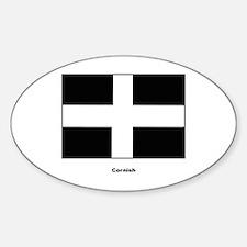Cornish Cornwall Flag Oval Decal