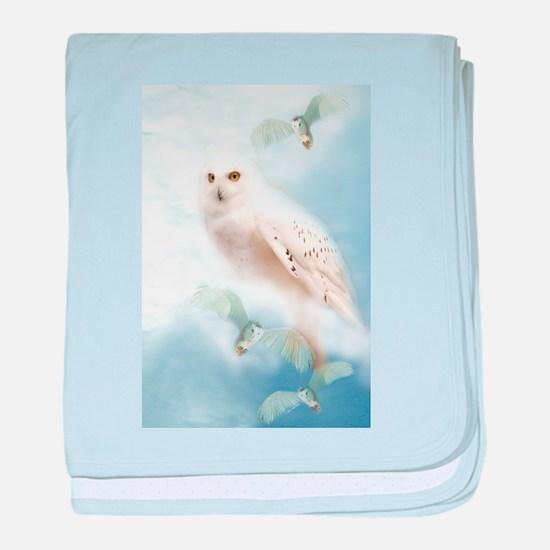 Snowy Owl baby blanket