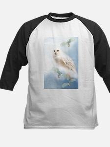 Snowy Owl Kids Baseball Jersey