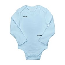 "HTML (""cute"") Long Sleeve Infant Bodysuit"