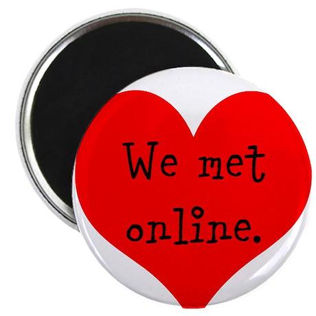 """We met Online 2.25"""" Magnet (100 pack)"""