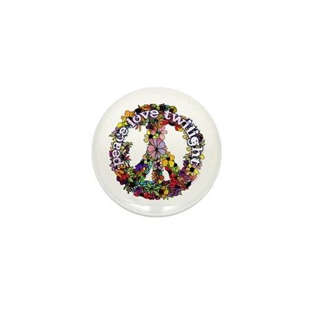 Peace Love Twilight by Twibaby Mini Button (100 pa