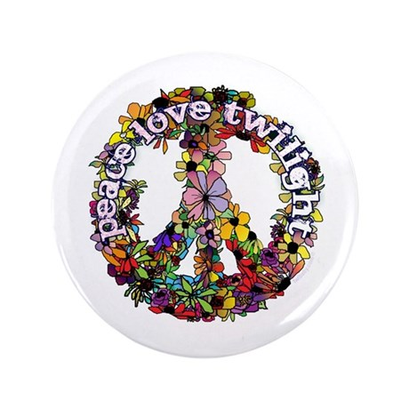 "Peace Love Twilight by Twibaby 3.5"" Button"