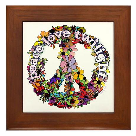 Peace Love Twilight by Twibaby Framed Tile
