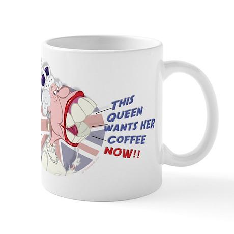 Funny Queen Elizabeth Caricature Mug