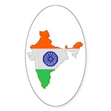"""""""Pixel India"""" Oval Decal"""