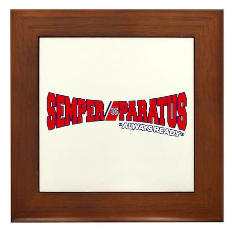 Semper Paratus (Ver 2) Framed Tile