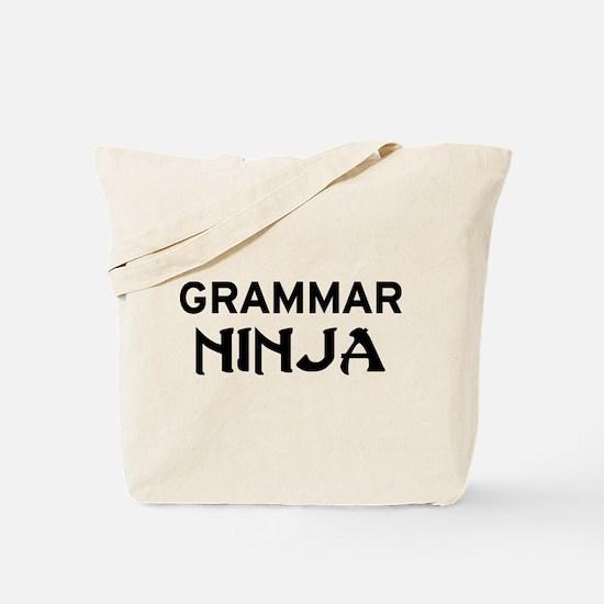 Grammar Ninja Tote Bag