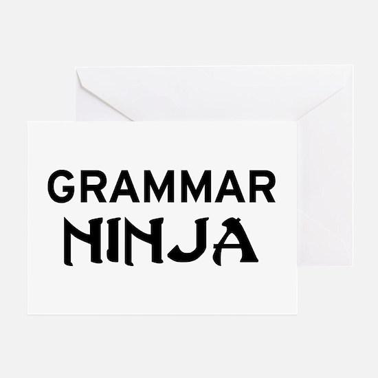 Grammar Ninja Greeting Card