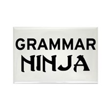 Grammar Ninja Rectangle Magnet
