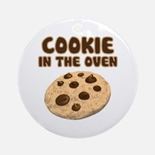 Cookie in Oven Ornament (Round)