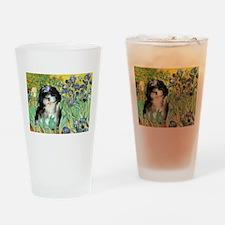 Irises / Shih Tzu #12 Drinking Glass