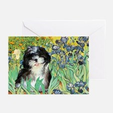 Irises / Shih Tzu #12 Greeting Cards (Pk of 10)