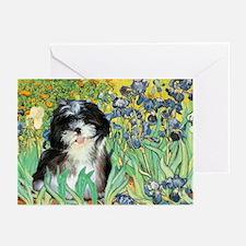 Irises / Shih Tzu #12 Greeting Cards (Pk of 20)
