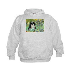 Irises / Shih Tzu #12 Kids Hoodie