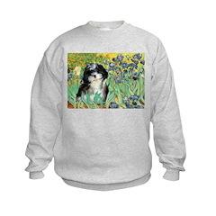 Irises / Shih Tzu #12 Sweatshirt