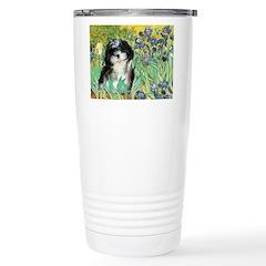 Irises / Shih Tzu #12 Travel Mug