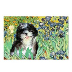 Irises / Shih Tzu #12 Postcards (Package of 8)