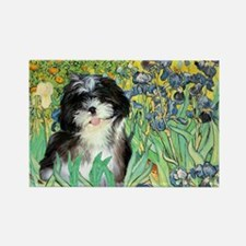 Irises / Shih Tzu #12 Rectangle Magnet