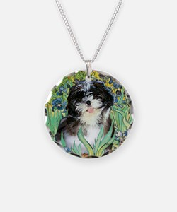 Irises / Shih Tzu #12 Necklace