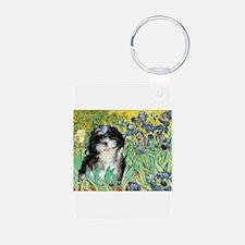 Irises / Shih Tzu #12 Keychains