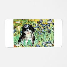 Irises / Shih Tzu #12 Aluminum License Plate