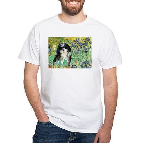 Irises / Shih Tzu #12 White T-Shirt