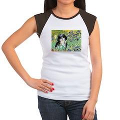 Irises / Shih Tzu #12 Women's Cap Sleeve T-Shirt