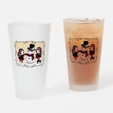 Chibi Gothic Winter Drinking Glass