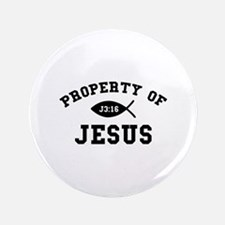 """Property of Jesus 3.5"""" Button"""