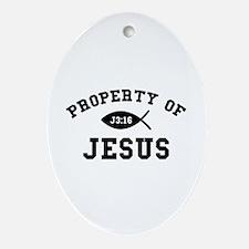 Property of Jesus Ornament (Oval)