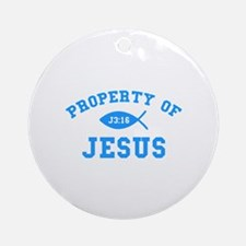 Property of Jesus Ornament (Round)