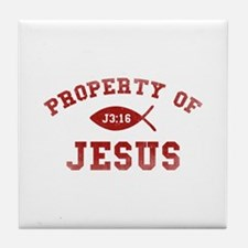 Property of Jesus Tile Coaster