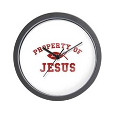 Property of Jesus Wall Clock